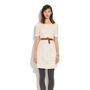 MADEWELL ivory lace overlay Serenade dress 6